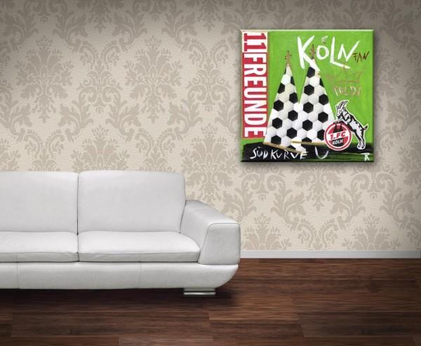 Kathrin Thiede Effzeh III Collage Bild auf Leinwand