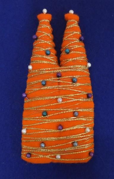 Filzdom orange Unikat von Erika Renner