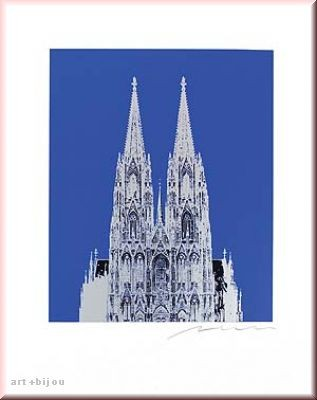 Henry Haselwanger Dom Slber auf Blau Format 40x50 handsigniert