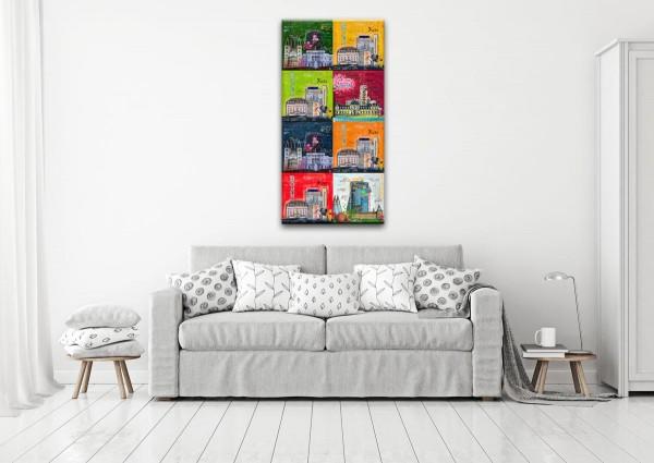 Kathrin Thiede Bonn Mosaik V Collage Bild auf Leinwand