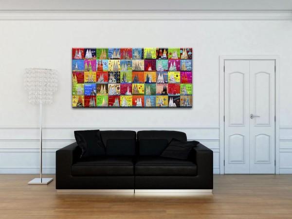 Kathrin Thiede Dom Mosaik II Collage Bild auf Leinwand