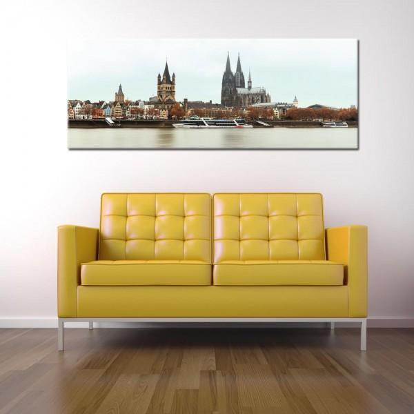 Leinwandbild Köln bei Tag 270 von Wolfgang Weber