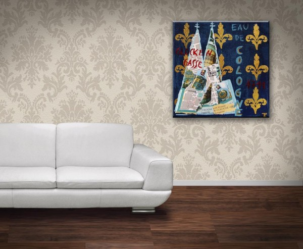 Kathrin Thiede Eau de Cologne Collage Bild auf Leinwand