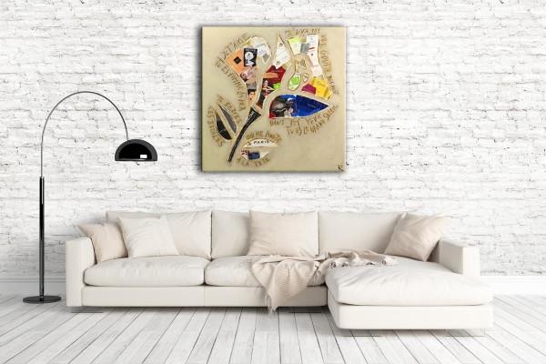 Kathrin Thiede Lancome Collage Bild auf Leinwand