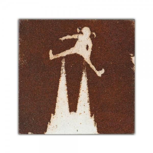 Uwe Reuter Rost Mini Dom Pipi Langstrumpf negativ, 10 x 10 cm