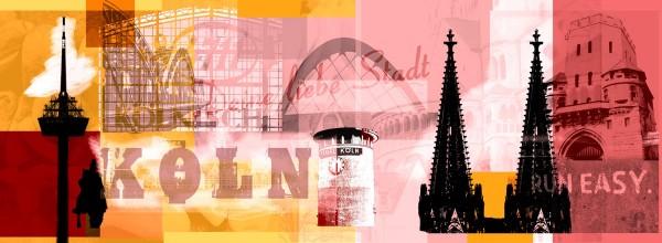 Mini Köln Deine Liebe Stadt rosa gelb