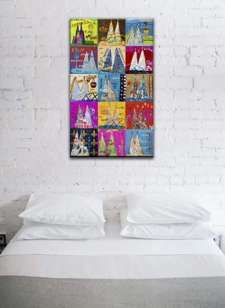 Kathrin Thiede Dom Mosaik VIII b Collage Bild auf Leinwand