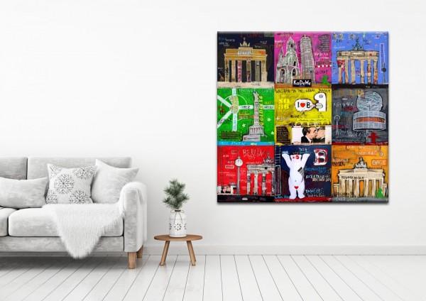 Kathrin Thiede Berlin Mosaik I a Collage Bild auf Leinwand