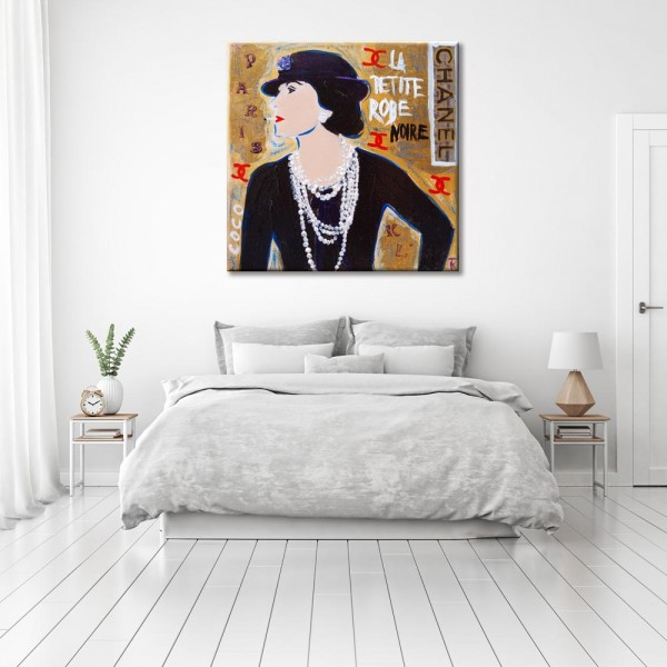 Kathrin Thiede Coco Chanel Collage Bild auf Leinwand