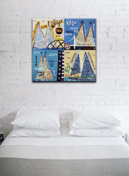 Kathrin Thiede Köln Mosaik III Collage Bild auf Leinwand