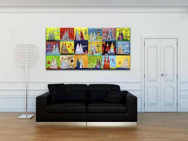 Kathrin Thiede Dom Mosaik III Collage Bild auf Leinwand