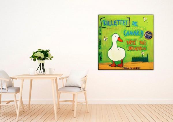 Kathrin Thiede Fois gras grün Collage Bild auf Leinwand