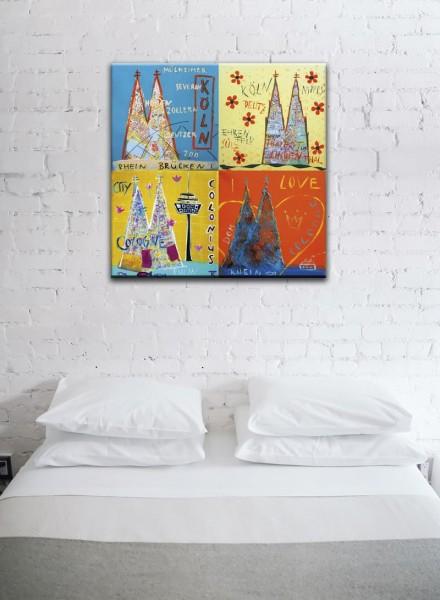 Kathrin Thiede Köln Mosaik X Collage Bild auf Leinwand