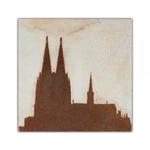 Uwe Reuter Rost Mini Dom 2, 10 x 10 cm