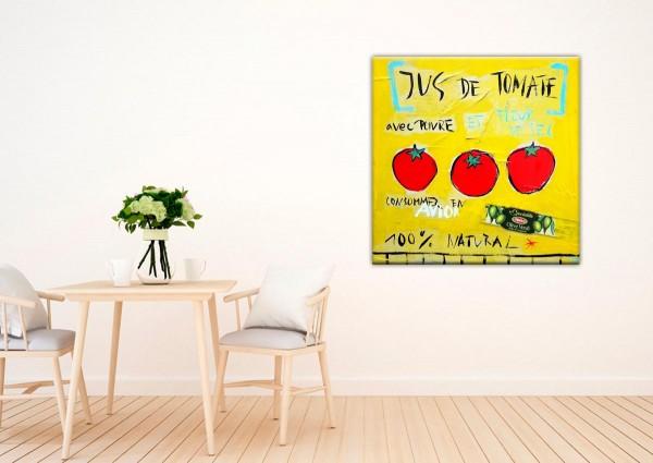 Kathrin Thiede Jus de tomate gelb Collage Bild auf Leinwand