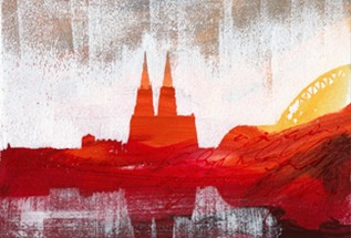 "Leinwandbild ""Sonnenuntergang 3"" von Vittorio Vitale ab 50x70 cm"