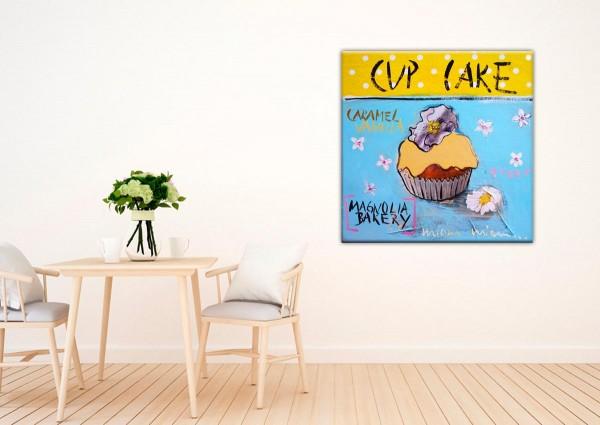 Kathrin Thiede Cupcake II Collage Bild auf Leinwand