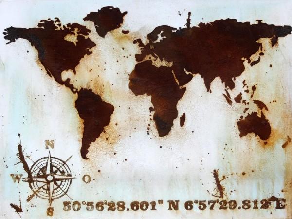 Uwe Reuter Rost Weltkarte