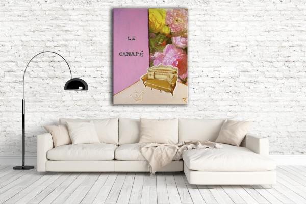 Kathrin Thiede Le Canapé Collage Bild auf Leinwand