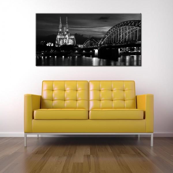 Leinwandbild Köln schwarz weiß 149 von Wolfgang Weber
