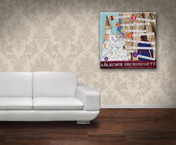 Kathrin Thiede Kölsches Grundgesetz Collage Bild auf Leinwand
