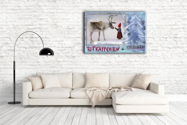 Kathrin Thiede  Rotkäppchen Collage Bild auf Leinwand