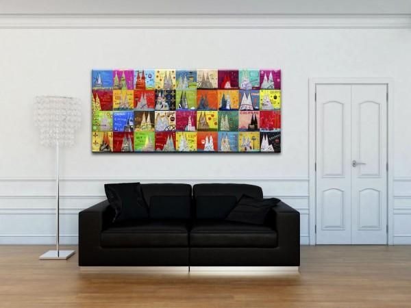 Kathrin Thiede Dom Mosaik VI Collage Bild auf Leinwand