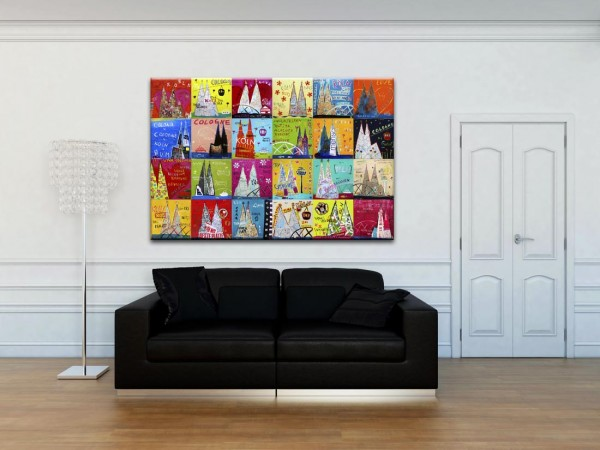 Kathrin Thiede Dom Mosaik I b Collage Bild auf Leinwand
