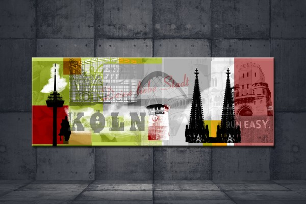 Leinwandbild Köln Deine liebe Stadt grün