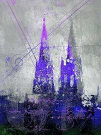 """Leinwandbild """"Der Dom in kunterbunt 3"""" von Vittorio Vitale ab 30x40 cm"""