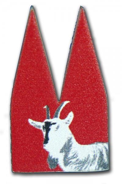 Helmut Brands Dom Einsatz Siebdruck Geißbock rot