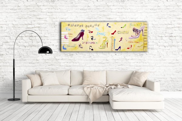 Kathrin Thiede Shoes Collage Bild auf Leinwand