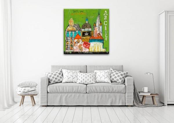 Kathrin Thiede Aachen grün Collage Bild auf Leinwand