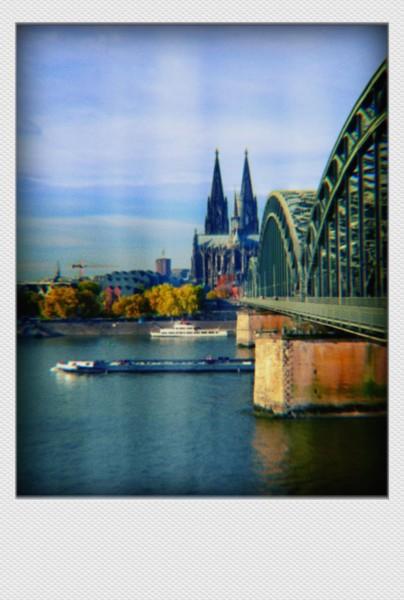 Köln Mini Polaroid Domblick I auf MDF