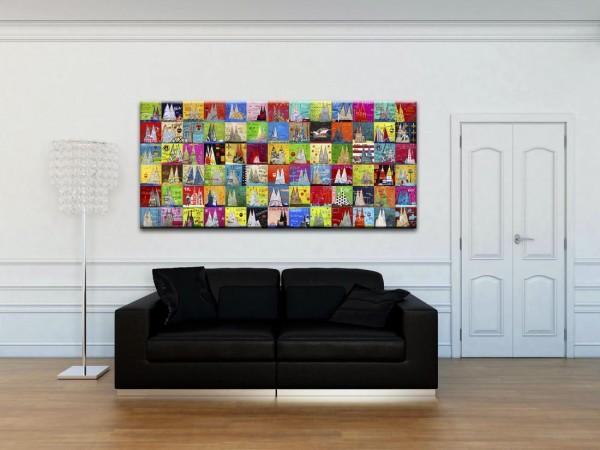 Kathrin Thiede Dom Mosaik VII Collage Bild auf Leinwand
