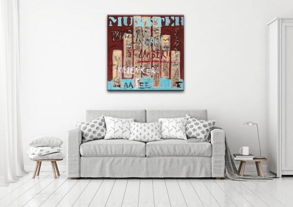 Kathrin Thiede Münster III Collage Bild auf Leinwand