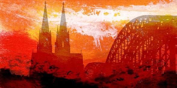 """Leinwandbild """"Der Dom in rot 9"""" von Vittorio Vitale ab 100x40 cm"""