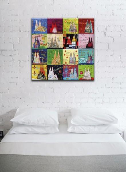 Kathrin Thiede Köln Mosaik XI Collage Bild auf Leinwand