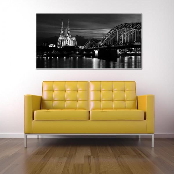 Leinwandbild Köln schwarz weiß 148 von Wolfgang Weber