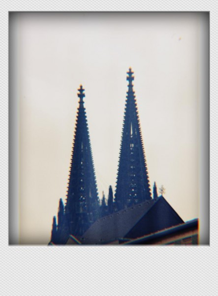 Köln Mini Polaroid Domspitzen auf MDF