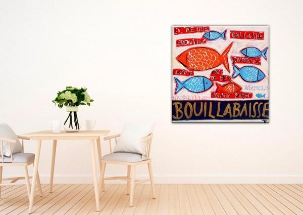 Kathrin Thiede Bouillabaisse III Collage Bild auf Leinwand