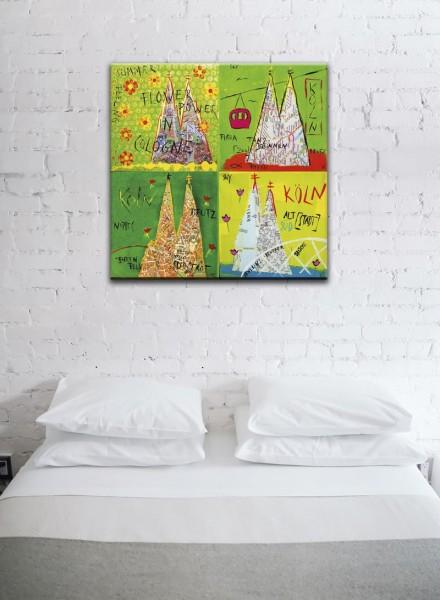 Kathrin Thiede Köln Mosaik VII Collage Bild auf Leinwand