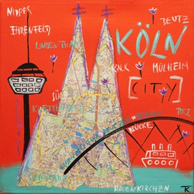 Kathrin Thiede - Köln Mini City rot