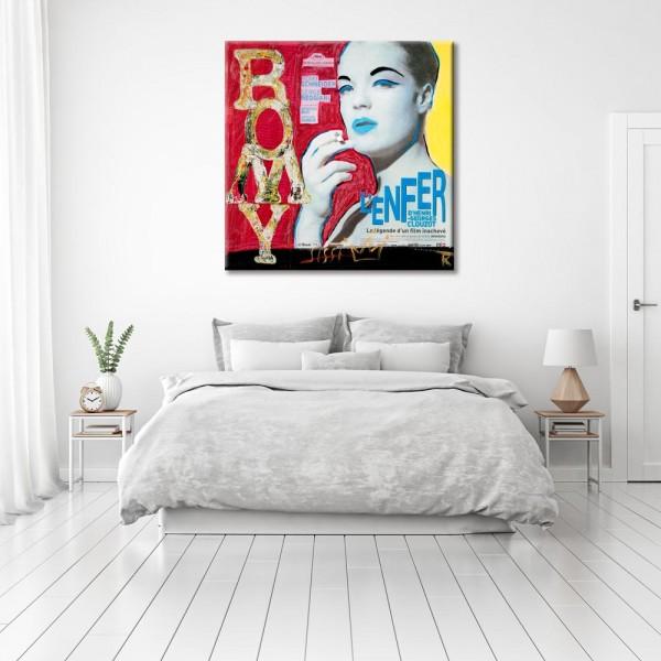 Kathrin Thiede Romy Schneider Collage Bild auf Leinwand