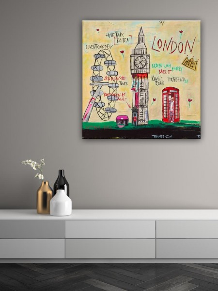 Kathrin Thiede London II Collage Bild auf Leinwand