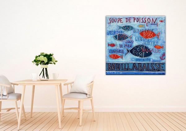 Kathrin Thiede Bouillabaisse IV Collage Bild auf Leinwand