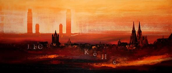 """Leinwandbild """"Der Dom in rot 10"""" von Vittorio Vitale ab 100x40 cm"""