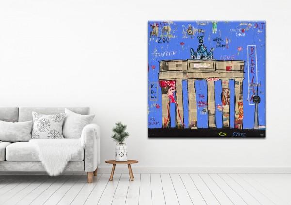 Kathrin Thiede  Brandenburger Tor IV Collage Bild auf Leinwand