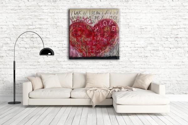 Kathrin Thiede l'amour Collage Bild auf Leinwand