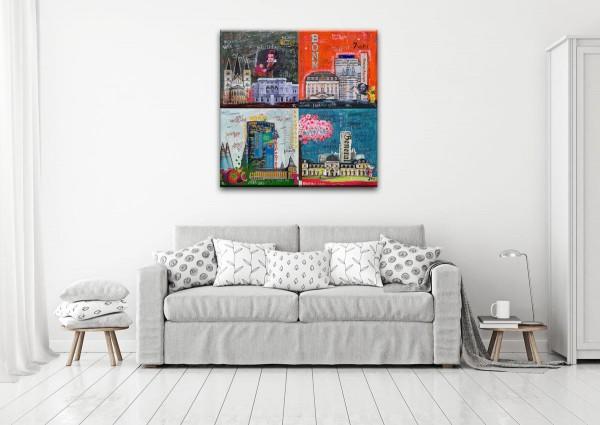 Kathrin Thiede Bonn Mosaik III Collage Bild auf Leinwand